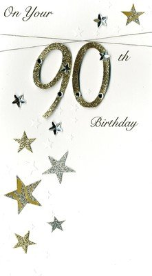 Image Unavailable Not Available For Colour Second Nature 90Th Luxury 3D Birthday Greeting Card 90 Years Old