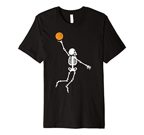 Skeleton Halloween basketball Sport Skull T-Shirt ()