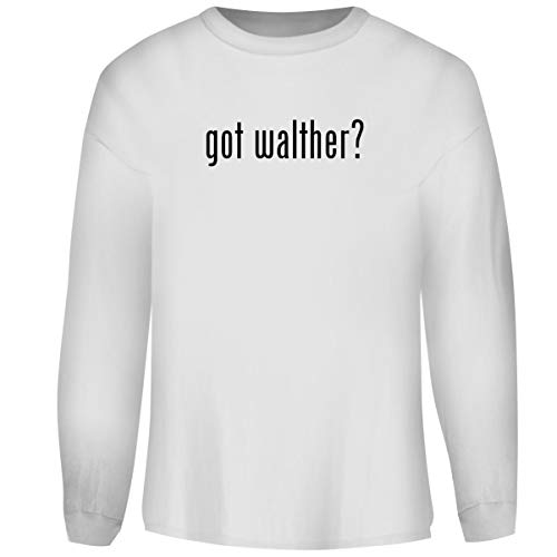 Laser Walther Cp99 - One Legging it Around got Walther? - Men's Funny Soft Adult Crewneck Sweatshirt, White, XX-Large