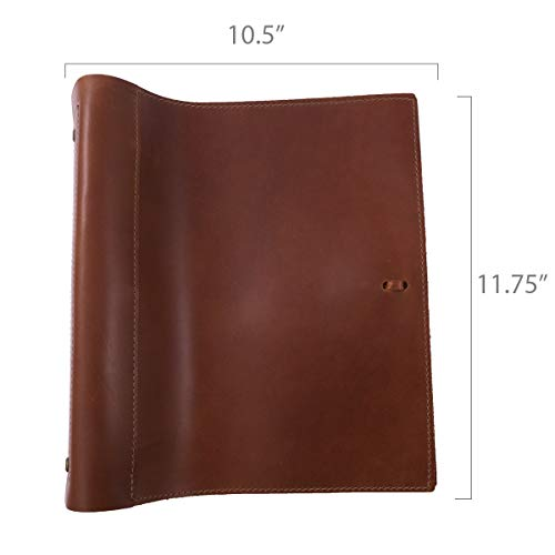 Leather Binder Handmade by Rustico in The USA, Top-Grain, Professional, Soft, Standard 3 Ring Spine, 1.5 Inch Rings, Organizer, Planner, Store Important Documents ()