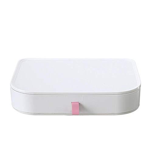 European Cosmetics Receiving Box With Mirror Desktop Skin Care Plastic Shelf Simple -