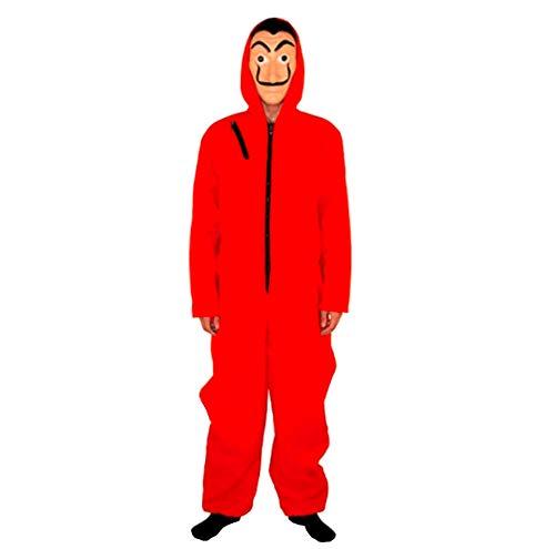 Mitef Halloween Children's Cosplay Costume La Casa de Papel Red Dali Jumpsuit with Masks for Kids, S