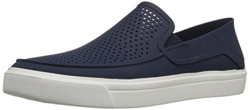 crocs Men's Citilane Roka Slip-On , Navy/White, 11 M US