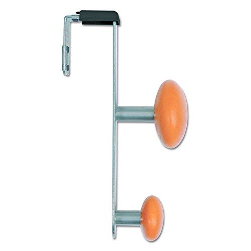 - Alba PM2PARTBO Cubicle Garment Peg, 2-Hook, 1 1/5 x 1 3/8 x 7 9/10, Metallic Grey (ABAPM2PARTBO)