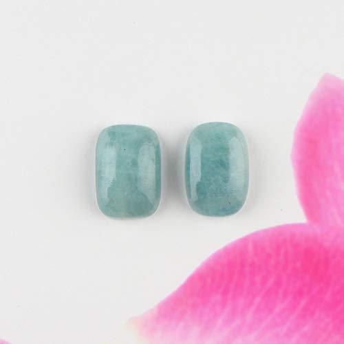 Jaguar Gems – Natural Aquamarine Stone, Aquamarine Oval Cabochon, DIY- Jewelry Making, Assorted Loose Gemstone Lot, Chakra Healing Stone, Good Luck Crystals, March Birthstone, Pack of 2