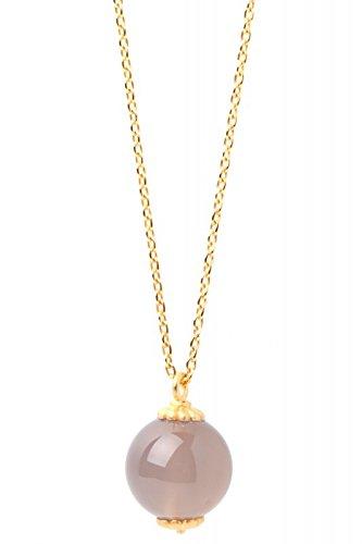 Goldkette abbie gris agate