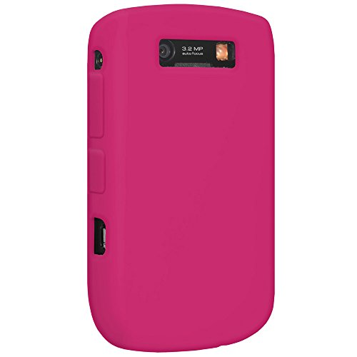 Amzer Silicone Jelly Case for BlackBerry Curve 8900 - Maroon Red