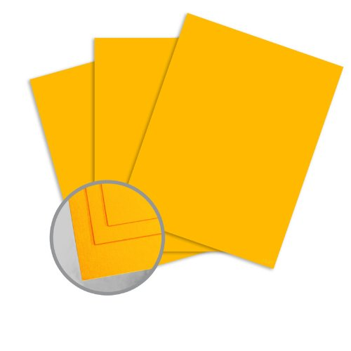 ColorMates Smooth & Silky Gold Card Stock - 12 x 12 in 90 lb Cover Smooth 25 per Package