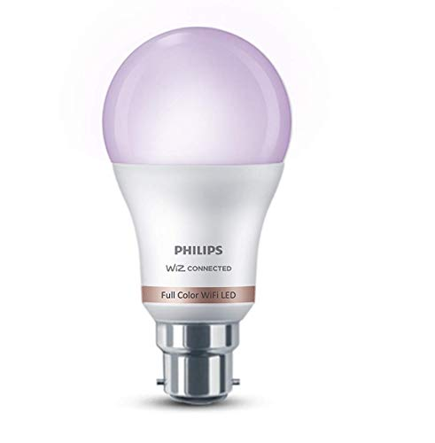Philips Smart Wi-Fi LED Bulb B22 10-Watt WiZ Connected (16 Million Colors + Warm White/Neutral White/White + Dimmable + Pre-Set Modes) (Compatible with Amazon Alexa and Google Assistant)