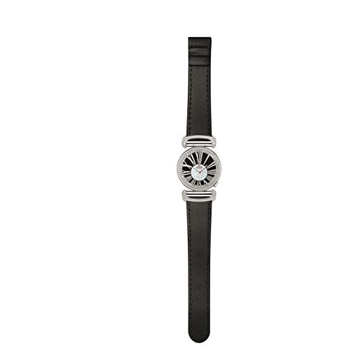 Charmex Malibu 6282 32mm Stainless Steel Case Black Calfskin Synthetic Sapphire Women's Watch