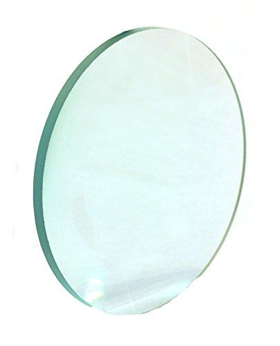 Eisco Labs Double Convex Glass Lens, 75mm diameter, 200mm Focal Length