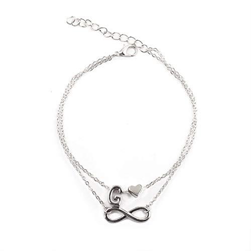 Ankle Bracelets Anklet for Women Multi-Layered Letter Heart Shape Anklet Jewelry from Fenido