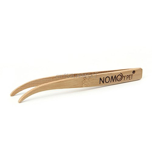 Price comparison product image NJPOWER Eco-Friendly Bamboo Tool Angled Reptile Terrarium Feeding Tongs Tweezers R06 Drop Ship