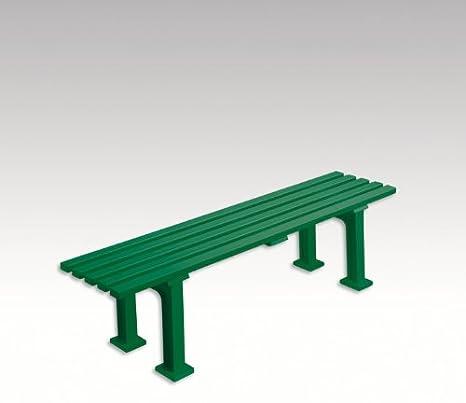Panchina In Plastica Verde.Panca Da Giardino Panchina Bank In Plastica Senza Schienale Verde