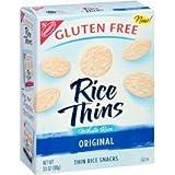 Nabisco, Rice Thins, White Rice Original, Thin Rice Snacks, Gluten Free, 3.5oz Box (Pack of 4)