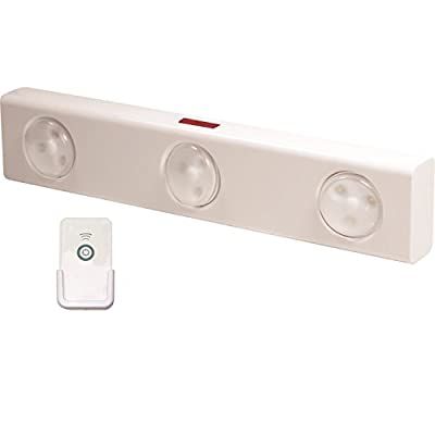 Rite Lite LPL700WRC Wireless LED Under Cabinet Light with Remote Control, White