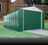 Duramax 55161 Metal Garage 12x26in Shed with Side Door, from US Polymers Inc. - DROPSHIP