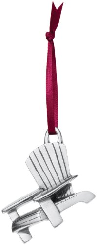 DANFORTH - Adirondack Chair Pewter Ornament - Handcrafted - 1 3/4 Inches