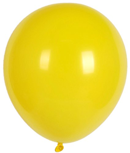 72 Count 12 Inch Yellow Latex Balloon Helium Quality Biodegradable Party Favor for Birthday, Baby Shower, Graduation, and Any Other - Yellow 12 Inch Latex Balloons