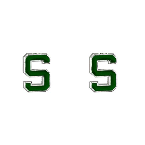 Michigan State Spartans Post Logo Earrings - Msu Sparty Costume