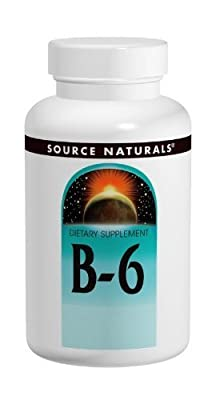 Source Naturals Vitamin B-6 Pyridoxine 500mg Time Release, 100 Tablets (Pack of 2)