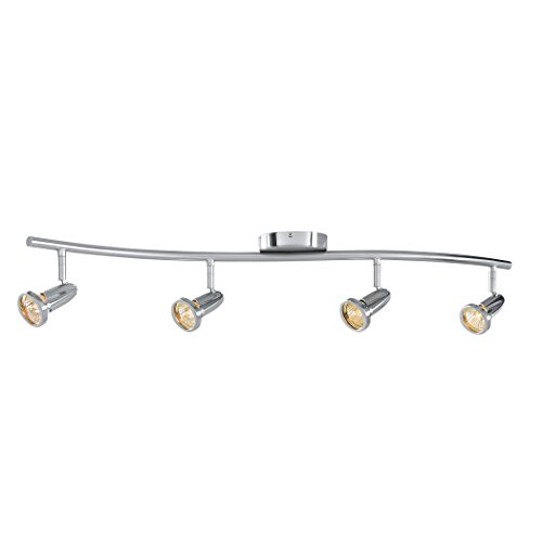 Cobra - LED Wall/Ceiling Semi-Flush Spotlight Bar - 4-Light - Brushed Steel Finish (Led Cobra)