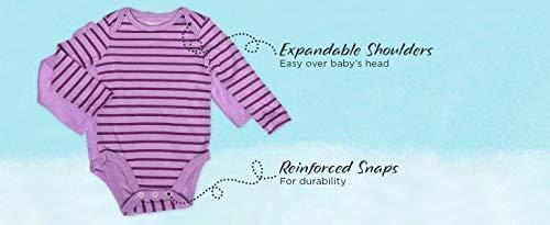 Hanes Ultimate Baby Flexy 5 Pack Long Sleeve Bodysuits