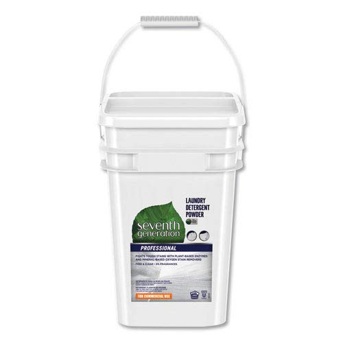 Seventh Generation Professional Powder Laundry Detergent, Free and Clear Scent, 35 lb Pail by Seventh Generation Professional (Image #1)