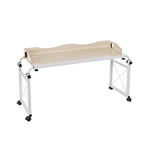 Dline - Overbed Table Laptop Cart(Light Grain 202)