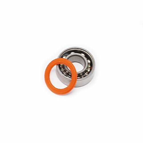 Generic 4x10x4 mm ABEC-7 SMR104-2RSc Stainless Steel Hybrid Ceramic Si3N4 Ball Bearing (Pack of 5) by SnowSpitzShop Brand