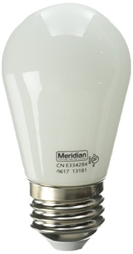 Meridian Electric 13181 Meridian 11W Equivalent General Purpose Bright White S14 LED Light Bulb ()