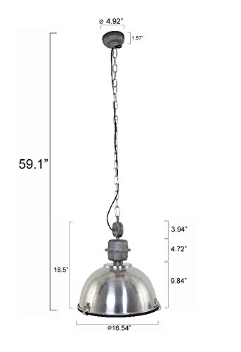 120V Italian Designed Hanging Industrial Pendant (Black) by AQL (Image #2)