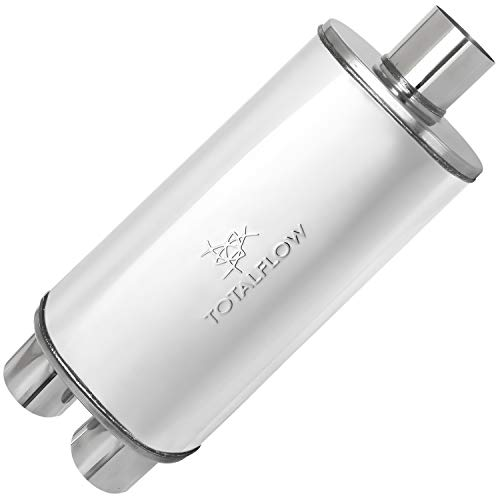 TOTALFLOW 33265 Straight Through Deep Tone Performance Muffler-18 Length 18 Muffler Body 24 OAL-Oval 4 x 9 2.25 Offset Reversible//Bi-Directional 409 Stainless Steel//Polished