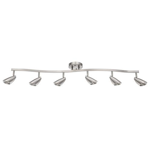 Luminance F2985-80 Contemporary 6 Halogen Track Light with Bright Satin Nickel Finish