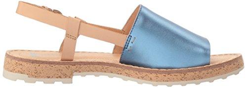 Camper Womens Pimpom K200380 Flat Sandal Multicolor