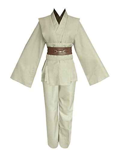 (Men TUNIC Hooded Robe Cloak Knight Fancy Cool Cosplay Costume,Ivory(tunic),Large,Large,Ivory(tunic) )