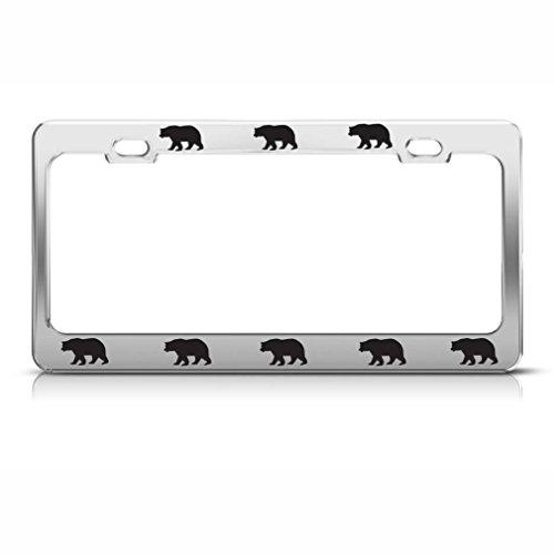 bear license plate frame - 1