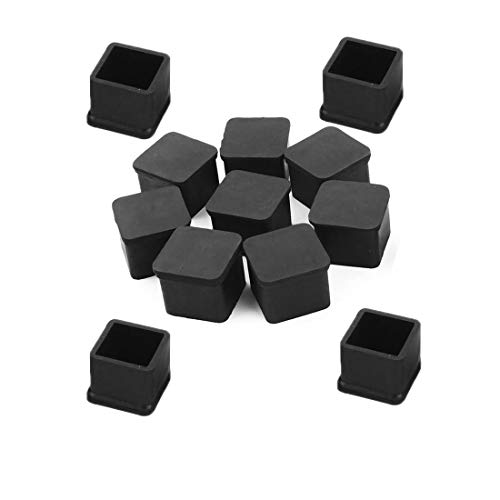 (Socell 12pcs Chair Leg Caps Feet Pads,Rubber Square Shaped Furniture Table Chair Leg Foot Cover Cap,PVC Floor Protectors Rectangle Furniture Table)