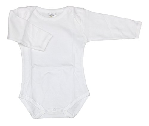 Carlino 2-Pack Extra Soft Bodysuits, Long Sleeve with Envelope Neck,White,24-36 Months (Carlino Short)
