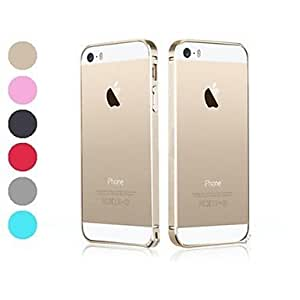 LX 0.7 Ultrathin Special Design Purity Colorized Metal Frame Case for iPhone 5/5S Back Case Color Pink
