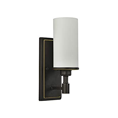 Wall Sconce Light Bathroom Vanity Wall Lighting with Opal Glass Shade Indoor Wall Mount Light for Bedroom Living Room Corridors Entryways (Coffee Color)