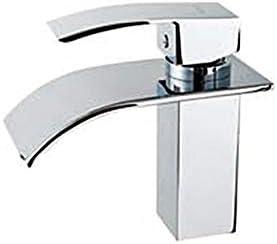 家庭用浴室の蛇口 モダンデザインシングルハンドルステンレス鋼の滝の浴室の蛇口 浴室の台所の蛇口 (Color : Silver)
