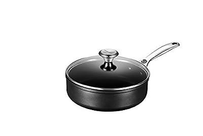 Le Creuset of America Toughened NonStick Saute Pan with Lid, 3.25 quart