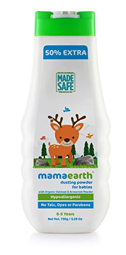 Mamaearth Talc Free Organic Dusting Powder for Babies 100 Gm with Arrowroot & Oat Starch