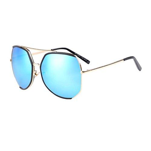 Moda Playa UV 3 Caja Vintage HOME Sol De Grande Gafas Protección QZ 5 Harajuku De Poligonal Color YBFxOq