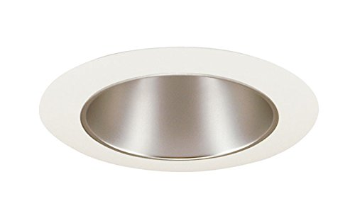Juno Lighting 17HZ-WH 4-Inch Recessed Trim, Haze with White Trim