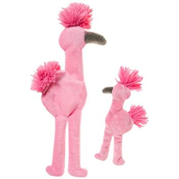 West Paw Design Mingo Squeak Toy for Dogs, Pink