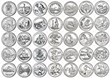 #2: 39 P National Park Quarters 2010-2017 with Folder Philadelphia (With NEW ELLIS ISLAND NJ!!) Brilliant Uncirculated