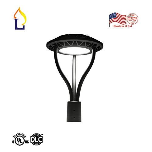 1 Pack JLLEAD LED Street Garden Light lamp 150W White Daylight 5000k led Area Post top Pole Lighting with UL DLC Listed 110-277V AC LED Circular Area Lights