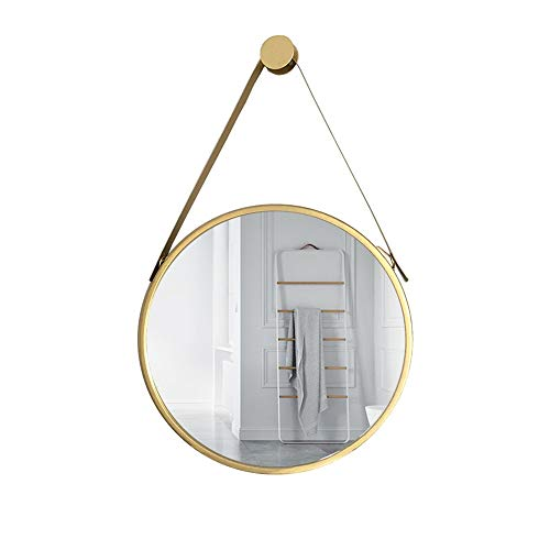 Mirror CAICOLOR Nordic Bathroom Wrought Iron Dressing Makeup Round Fittings Creative (Size : 40cm) by Mirror